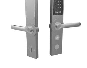Smart door lock grey 3D MODEL game-ready