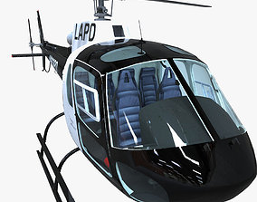 Police helicopter 3D asset