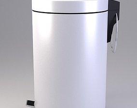 White Pedal Bin 3D model
