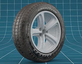3D model Car tire dirt 04