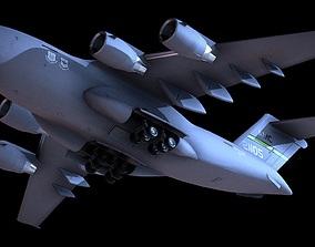 VR / AR ready Boeing C-17 Globemaster III Aircraft 3D