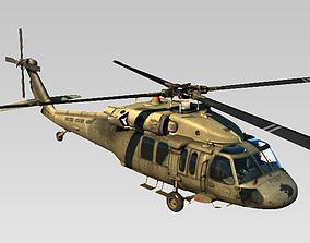 Sikorsky Black Hawk Helicopter Rigged 3D