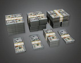 3D asset BHE - Cash Money Pile - PBR Game Ready