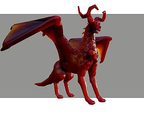 wings Red Dragon 3D model