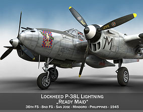 Lockheed P-38 Lightning - Ready Maid 3D model