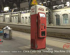 3D model Coca Cola Old Middle Vending Machine