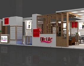 3D Elt Stall Size 11 m x 8 m Height 280 cm