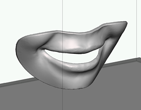 3D printable model Smile line checker lip plate