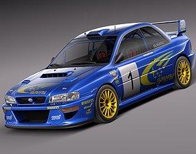 3D model Subaru Impreza STi 22b WRC 1993-2000