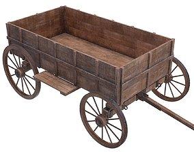 wooden cart 3D PBR
