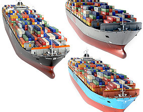 3D asset collection container ships