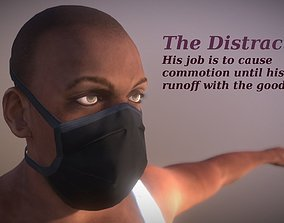 The Distraction - Realistic Game Ready Human 3D model