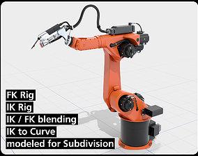 KUKA Hybrid Laser welding Robot IK and FK 3D model