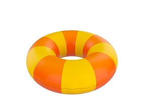 Inflatable Pool Float Ring 3D asset