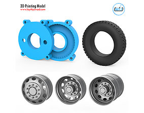 Truck Tire Mold With 3 Wheels 3D print model