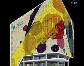 Modern Office Building 008 wall 3D model
