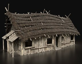 3D model Next Gen AAA VIKING MEDIEVAL WOODEN HOUSE CABIN 1