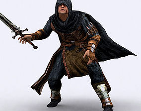 3D model animated Fantasy Thief