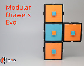 3D printable model Modular Drawers Evo