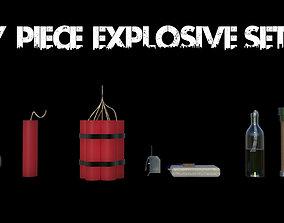 7 piece explosives set 3D model