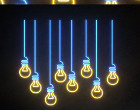 3D model Light modules Set 048 Neon