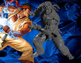 Ryu Statue for 3D Print
