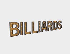 3D Bllard Sign With Bulb