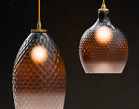 Lamp Hanging Round Ombre 3D