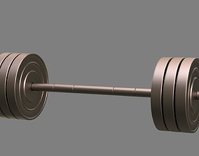 isolated 3D model Barbell