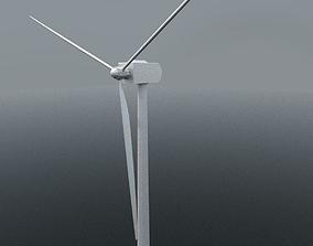 3D model industrial Wind Turbine