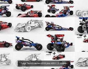Lego Technic series 42010 plus 42011 3D