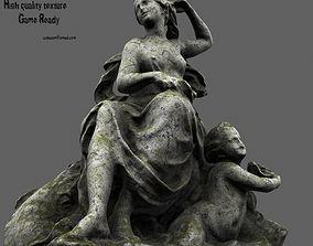 3D asset low-poly statue 2