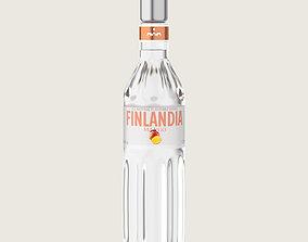 Finlandia Original Classic Mango Bottle Vodka Of 3D asset