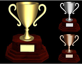 Trophy Cup 3D model game-ready