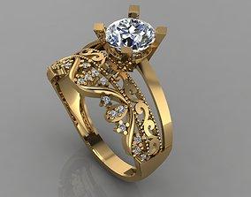 3D printable model GC GOLD TW0144- Diamond ring