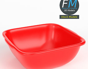 Square plastic basin 3D model