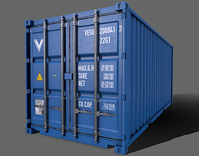 3D model PBR 20 ft Shipping Cargo Container Version 2 2