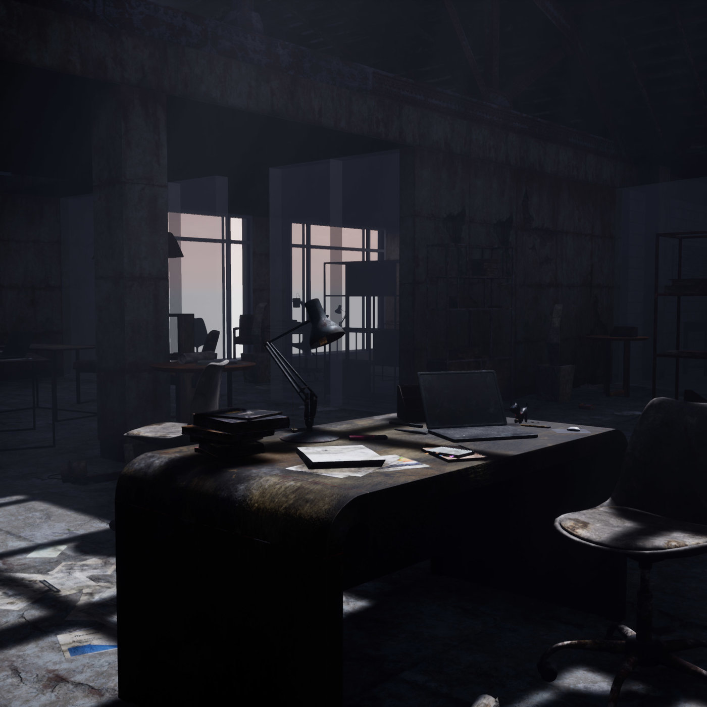 Post-apocalyptic scene in UE4