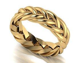 3D printable model Braided ring rings