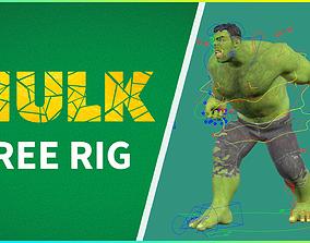 FREE HULK RIG 3D animated