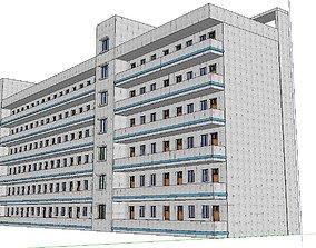3D model Office-Teaching Building-Canteen 70