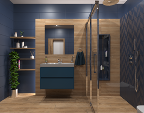 Bathroom 11 3D model low-poly