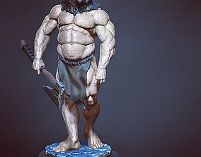 3D printable model barbarian bear