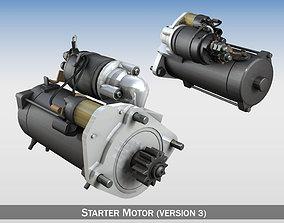 starting Starter Motor 03 3D