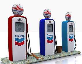 Gas Pump Chevron 3D model