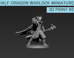3D print model Half-Dragon Warlock Miniature