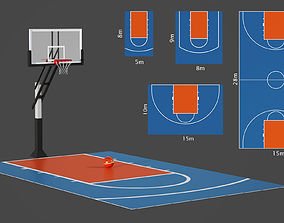 3D Outdoor basketball hoop