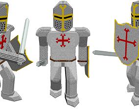 3D model Voxel templar knight