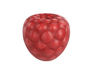 Raspberry 3D model game-ready