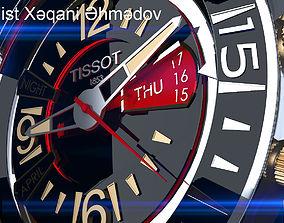 Watch Clock Tissot VMf 3D asset